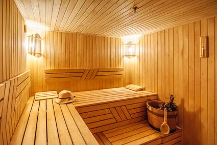 Sauna Innenansicht
