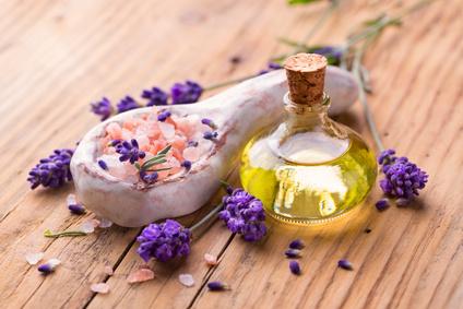 Badesalz mit Lavendel