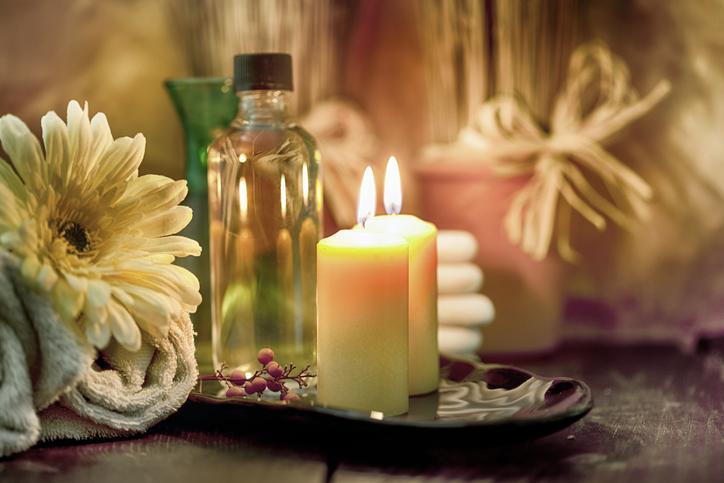 Kerzen Spa und romantische Stimmung